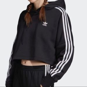 Adidas Cropped Hoodie Mint Condition